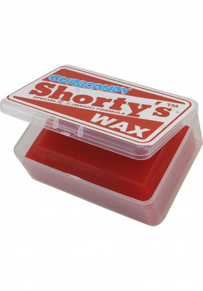 Shortys Skate-Wachs Curb Candy Wax In A Box red Vorderansicht