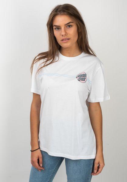 Santa Cruz T-Shirts OG Classic Dot white vorderansicht 0320731