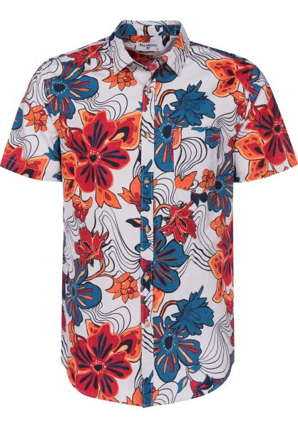 Billabong Hemden kurzarm Sundays Floral stone Vorderansicht