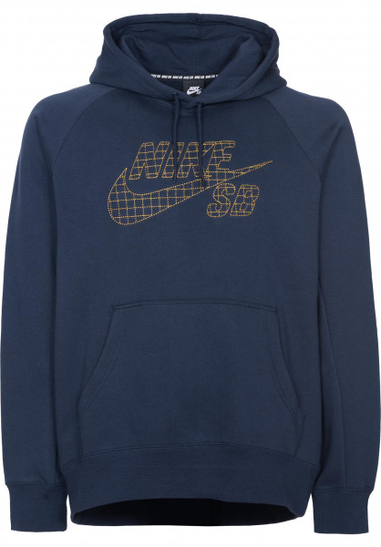 8e1f1a6a1744 Nike SB Hoodies SB Icon Grid Fill obsidian-peatmoss Vorderansicht