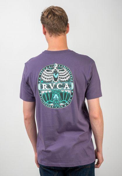RVCA T-Shirts Opposites purple-jade vorderansicht 0320555