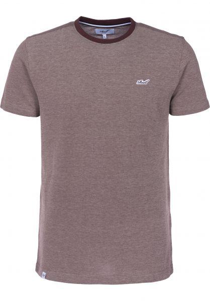 Reell T-Shirts Pique plum Vorderansicht