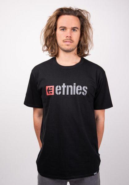 etnies T-Shirts Box black vorderansicht 0320043