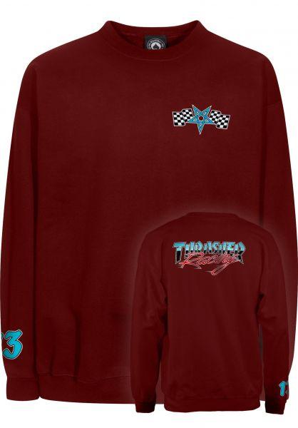 Thrasher Sweatshirts und Pullover Racing Crewneck maroon vorderansicht 0422605