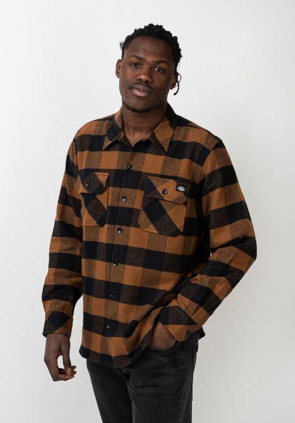 Dickies Hemden langarm Sacramento brownduck vorderansicht 0411126