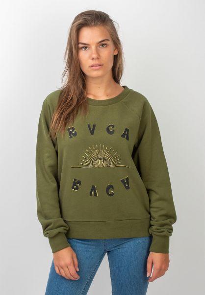 RVCA Sweatshirts und Pullover Sunshien armydrab vorderansicht 0422700