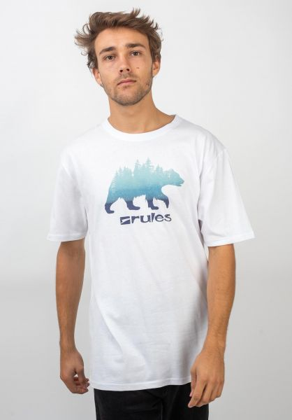Rules T-Shirts Grizzly Woods white vorderansicht 0399359