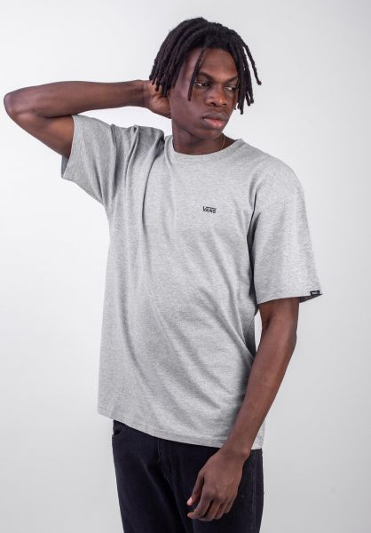 Left Chest Logo Vans T Shirts In Heathergrey Black For Men Titus