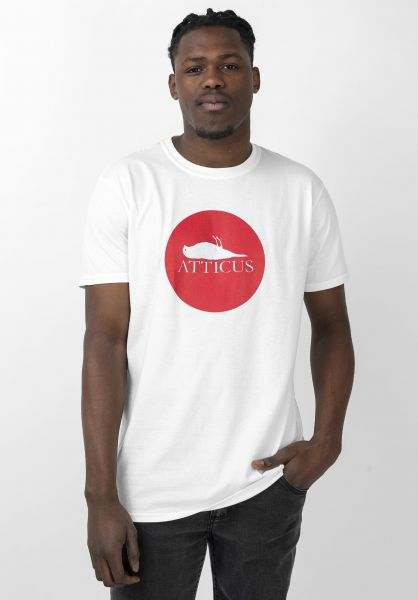 Atticus T-Shirts Circle white vorderansicht 0362223