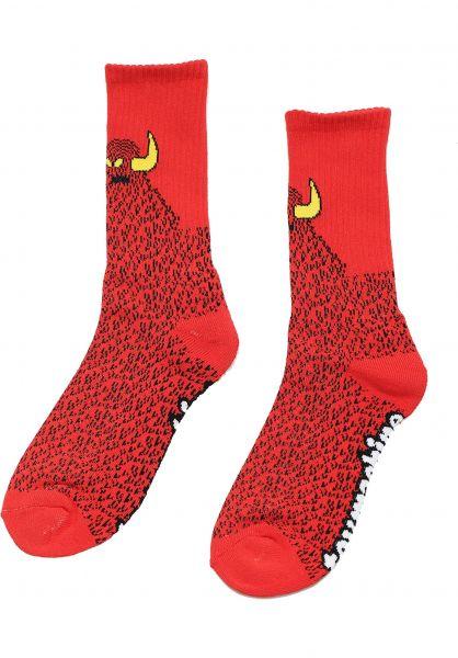 Toy-Machine Socken Furry Monster red vorderansicht 0632251