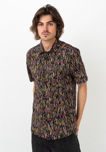 Volcom Hemden kurzarm High Ball black vorderansicht 0400983