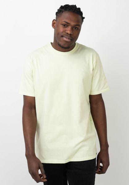 Volcom T-Shirts Solid Stone Emb keylime vorderansicht 0320386