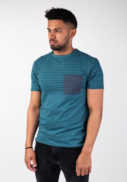 Mazine T-Shirts Felton Striped deepsea vorderansicht 0394382