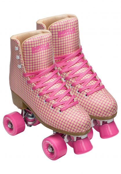 Impala Alle Schuhe Quad Rollschuhe / Rollerskates pink-tartan vorderansicht 0292000