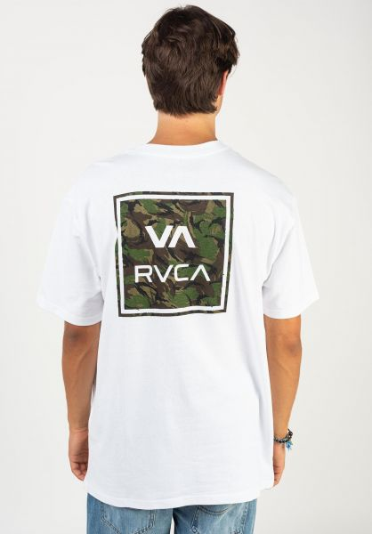 RVCA T-Shirts VA All The Way white vorderansicht 0394490