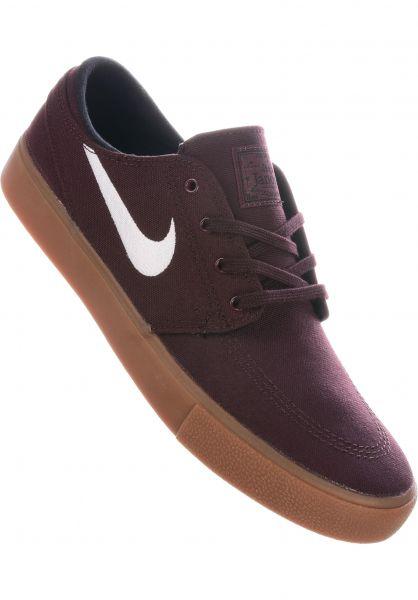 Nike SB Alle Schuhe Zoom Stefan Janoski CNVS RM mahogany-white-gum vorderansicht 0604616