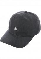 Element Caps Fluky Dad Hat Cap charcoalheather Vorderansicht