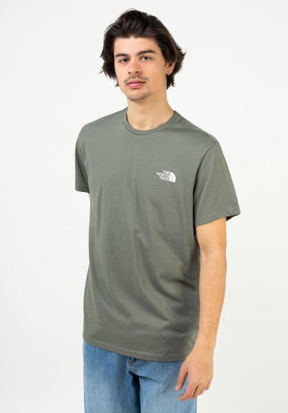 The North Face T-Shirts Simple Dome agavegreen vorderansicht 0321496