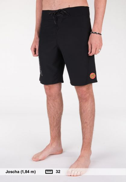 Santa-Cruz Beachwear Black Dot Boardie black Vorderansicht