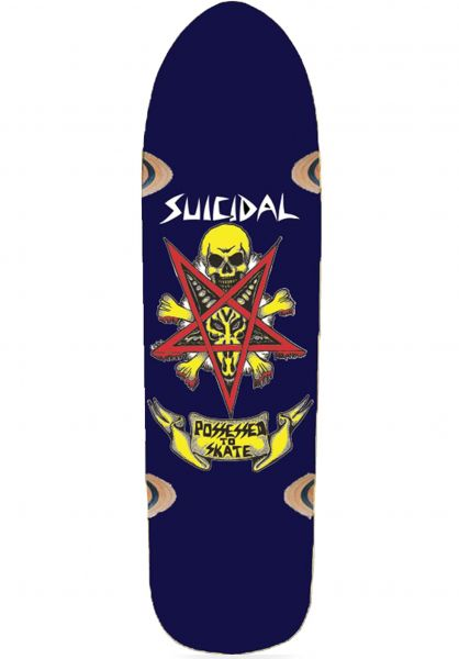 Dogtown Skateboard Decks Suicidal Possessed to Skate blue vorderansicht 0104222