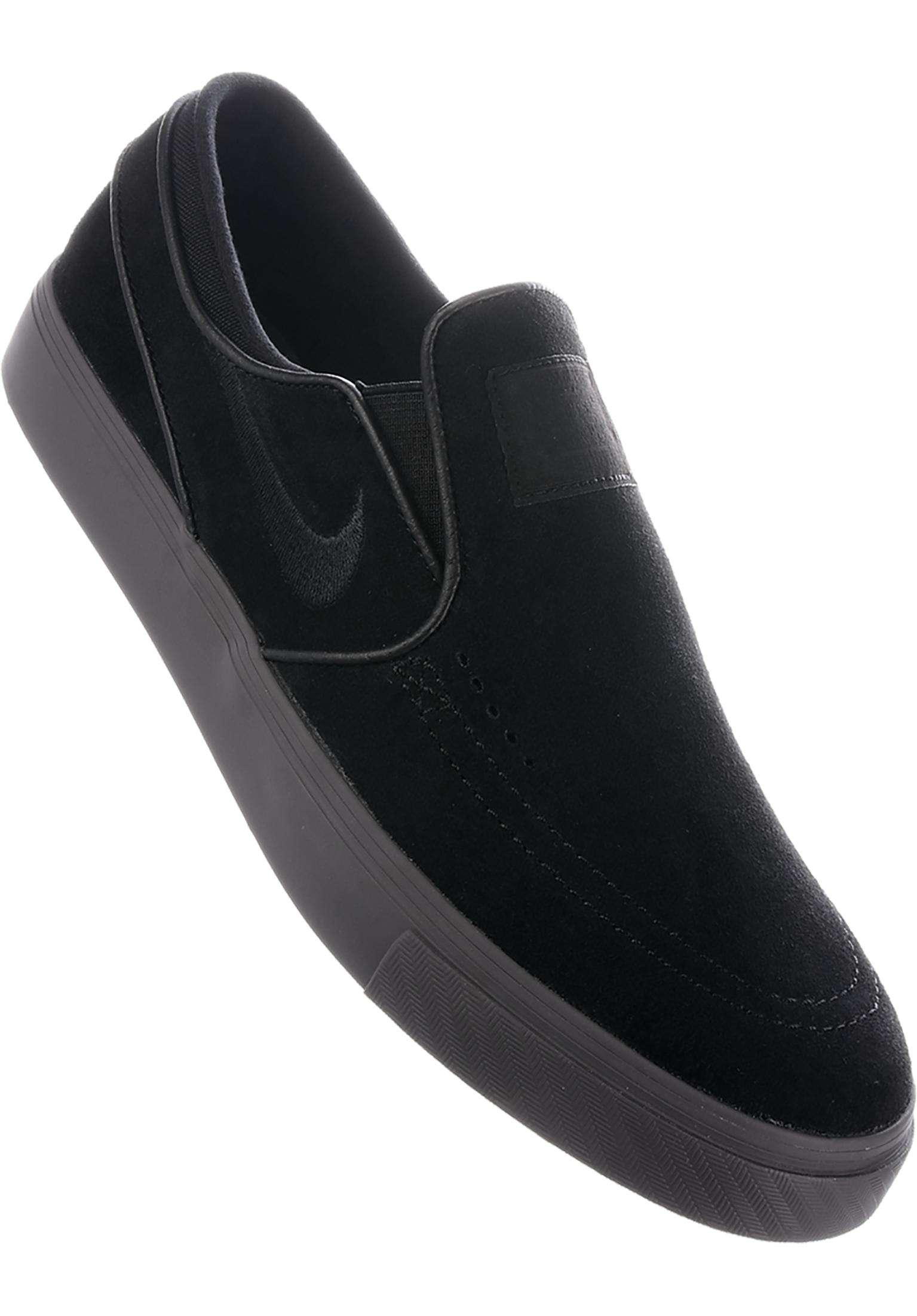 Zoom Stefan Janoski Slip On Nike SB All Shoes in black-black-thundergrey  for Men  22c8e7d01