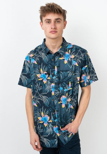 Billabong Hemden kurzarm Sunday Floral navy vorderansicht 0411758