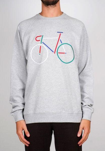 Dedicated Sweatshirts und Pullover Malmoe Color Bike greymelange vorderansicht 0422620