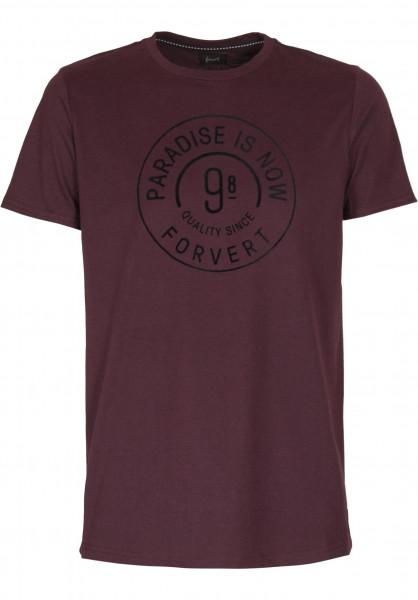 Forvert T-Shirts Philipp darkredheather Vorderansicht