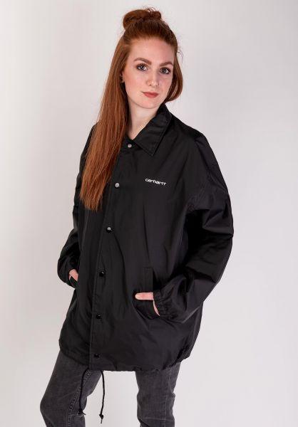 Carhartt WIP Script Coach Jacket (black wax II) buy at