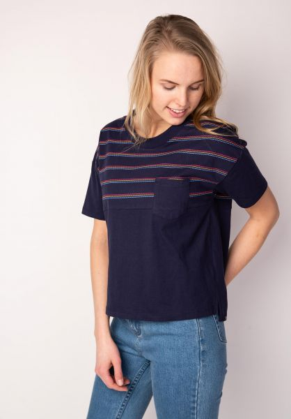 TITUS T-Shirts Pelleta multi-striped vorderansicht 0398464
