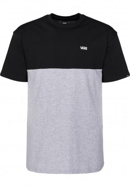 Vans T-Shirts Colorblock black-athleticheather Vorderansicht