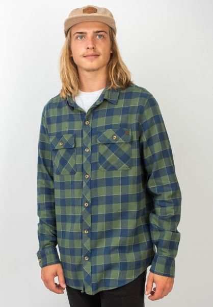Billabong Hemden langarm All Day Flannel forest vorderansicht 0411447