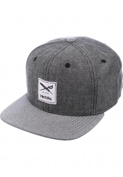 iriedaily Caps Flag Chambray black Vorderansicht