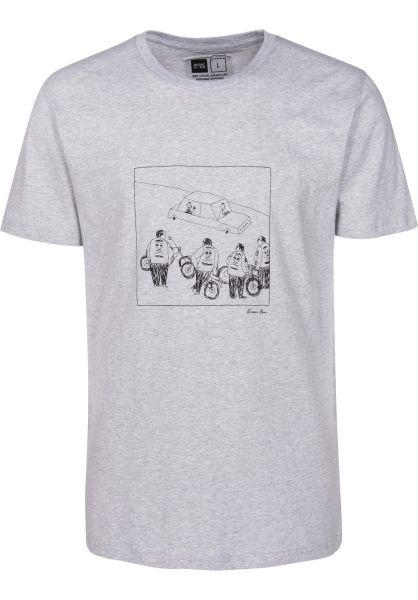 Dedicated T-Shirts Stockholm Biker Gang greymelange vorderansicht 0399367