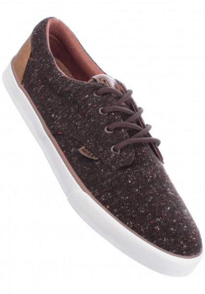 Djinns Alle Schuhe Nice Spotted Wool Pique brown Vorderansicht