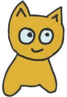 meow-skateboards-verschiedenes-cat-sticker-yellow-vorderansicht-0972742
