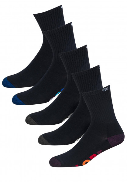 Globe Socken Multi Stripe Crew 5 Pack black Vorderansicht