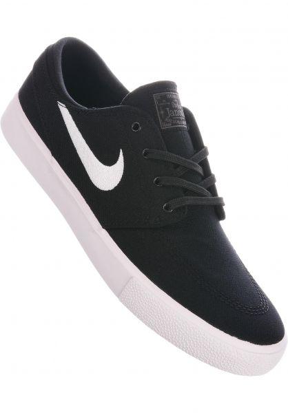 Nike SB Alle Schuhe Zoom Stefan Janoski CNVS RM black-white-thundergrey vorderansicht 0604616