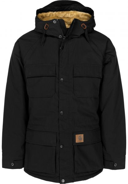 Carhartt WIP Winterjacken Mentley Jacket black Vorderansicht 0250009