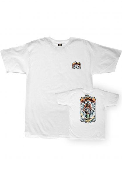 Loser-Machine T-Shirts Westside white vorderansicht 0322840