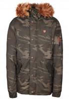 alife-&-kickin Winterjacken Ron camouflage Vorderansicht