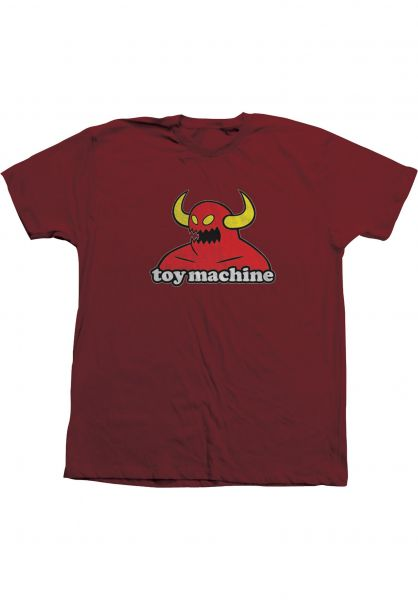 Toy-Machine T-Shirts Monster garnet vorderansicht 0360310