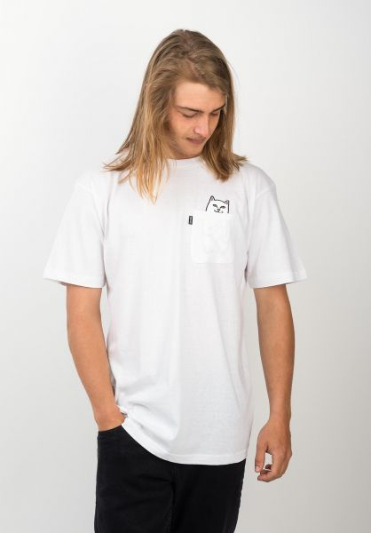Rip N Dip T-Shirts Lord Nermal Pocket white vorderansicht 0393476