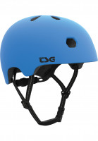 TSG Helme Meta Solid Color satin dark cyan-white EPS Vorderansicht