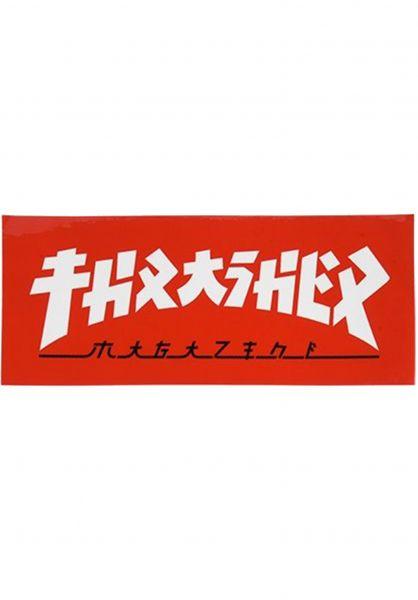 Thrasher Verschiedenes Godzilla Rectangle Sticker red-white vorderansicht 0972525