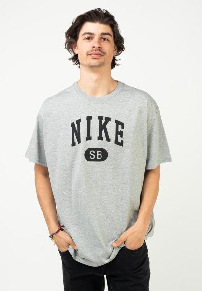 Nike SB T-Shirts Collegiate darkgreyheather-black vorderansicht 0323422