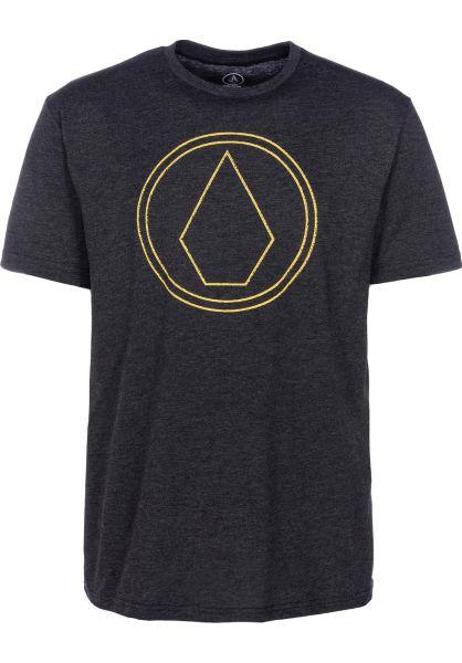 Volcom T-Shirts Pin Stone heatherblack vorderansicht 0399848