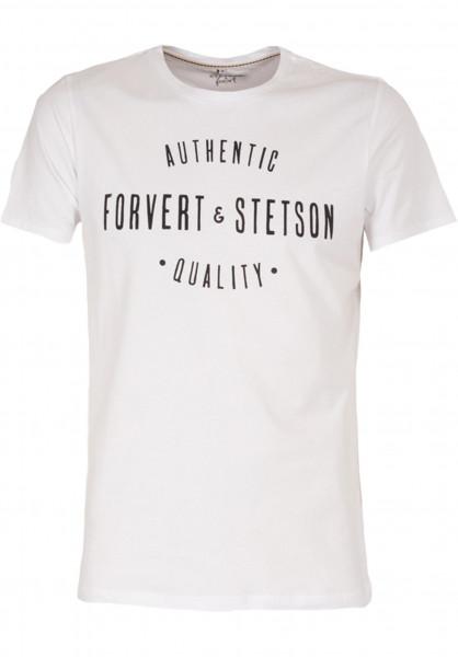 Forvert T-Shirts Stetson und Forvert white Vorderansicht