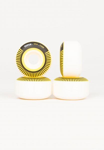 TITUS Rollen Classic BiCOLOR Regular 101A white-yellow vorderansicht 0134324