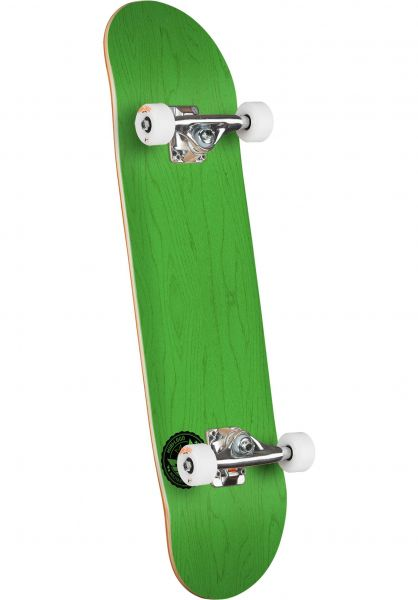 Mini-Logo Skateboard komplett ML Chevron Stamp - Shape 112 dyed green Vorderansicht